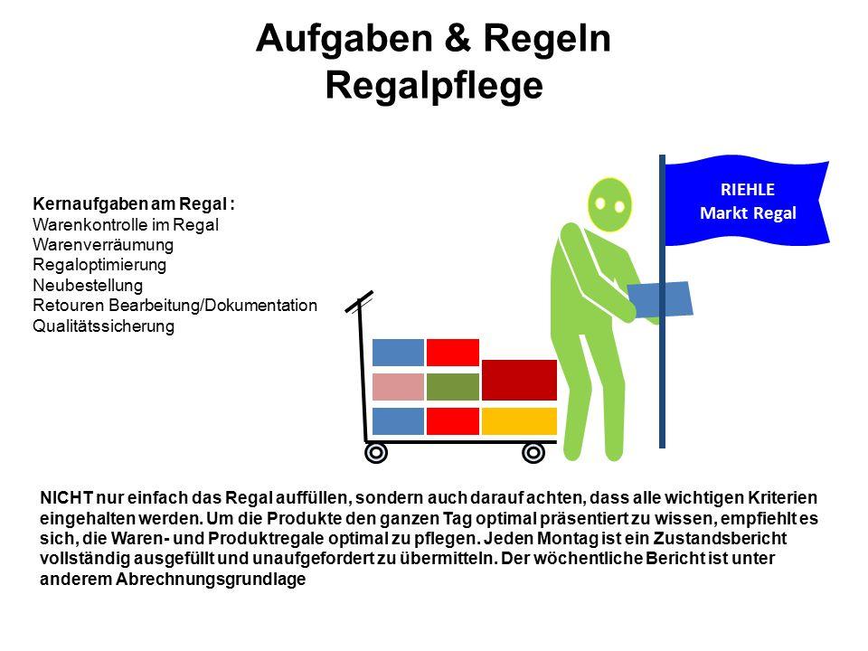 """Aufgaben & Regeln Regalflege SAUBERKEIT IST ERSTES GEBOT Absolute Sauberkeit im Regal ist ein """"Muss ."""