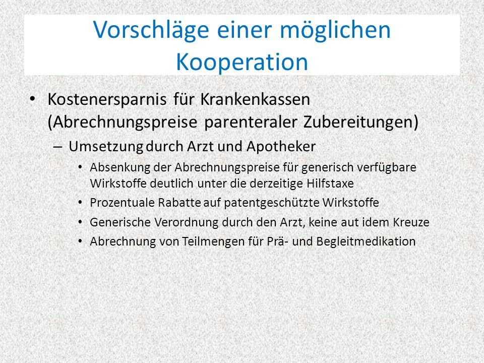 Vorschläge einer möglichen Kooperation Generierung med.-wiss.