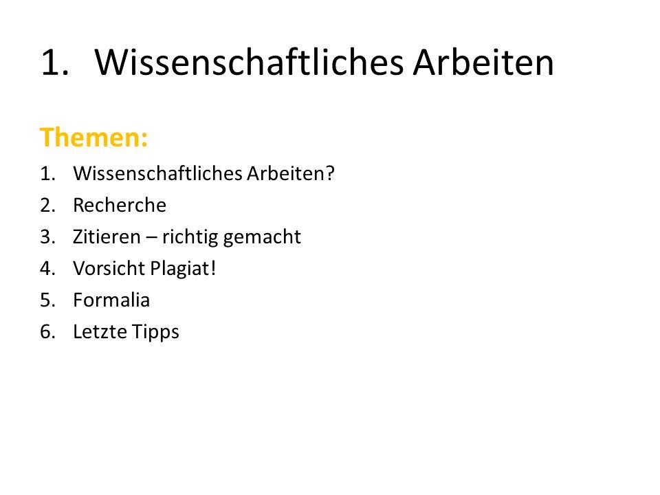 5.Formalia Titelblatt / Deckblatt Ggf.Abstract Sperrvermerk Inhaltsverzeichnis (ggf.
