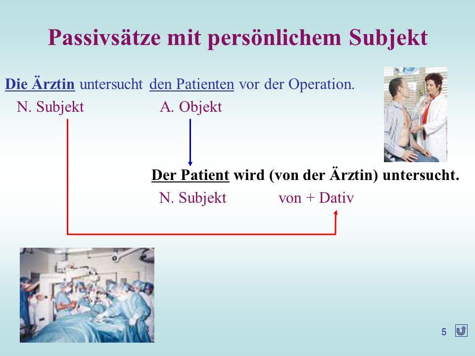 太原科技大学外语系 顾江禾 ( 2006.04 ) 6 Üben Sie Passiv nach dem Muster.