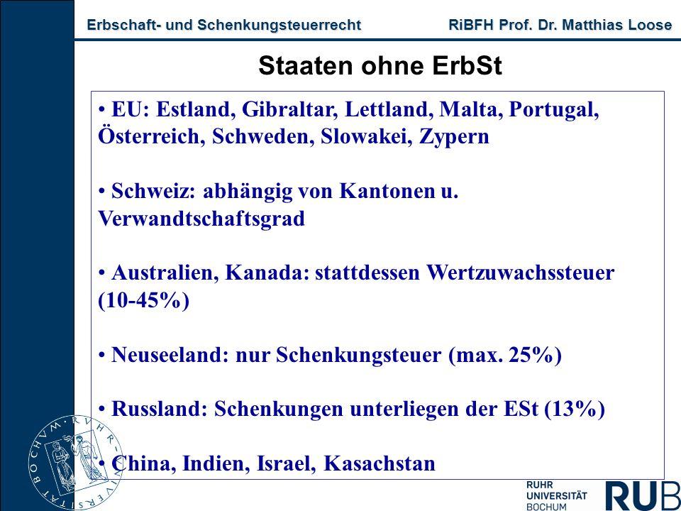 Erbschaft- und Schenkungsteuerrecht RiBFH Prof.Dr.