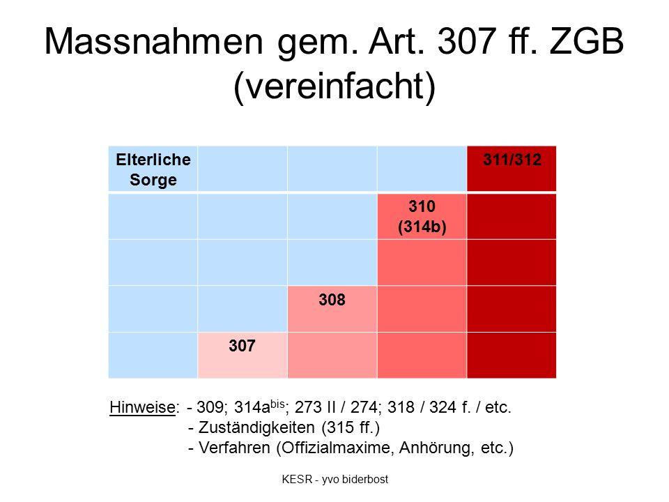 Massnahmen gem. Art. 307 ff.