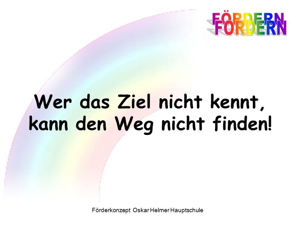 Förderkonzept Oskar Helmer Hauptschule Wer das Ziel nicht kennt, kann den Weg nicht finden!
