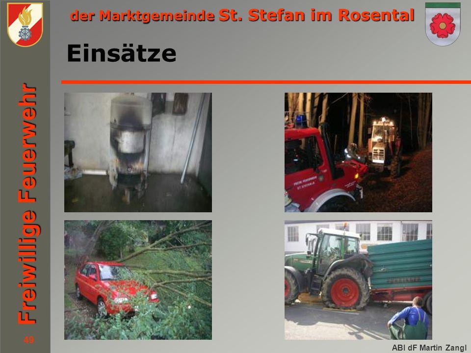 der Marktgemeinde St. Stefan im Rosental Freiwillige Feuerwehr ABI dF Martin Zangl 49 Einsätze