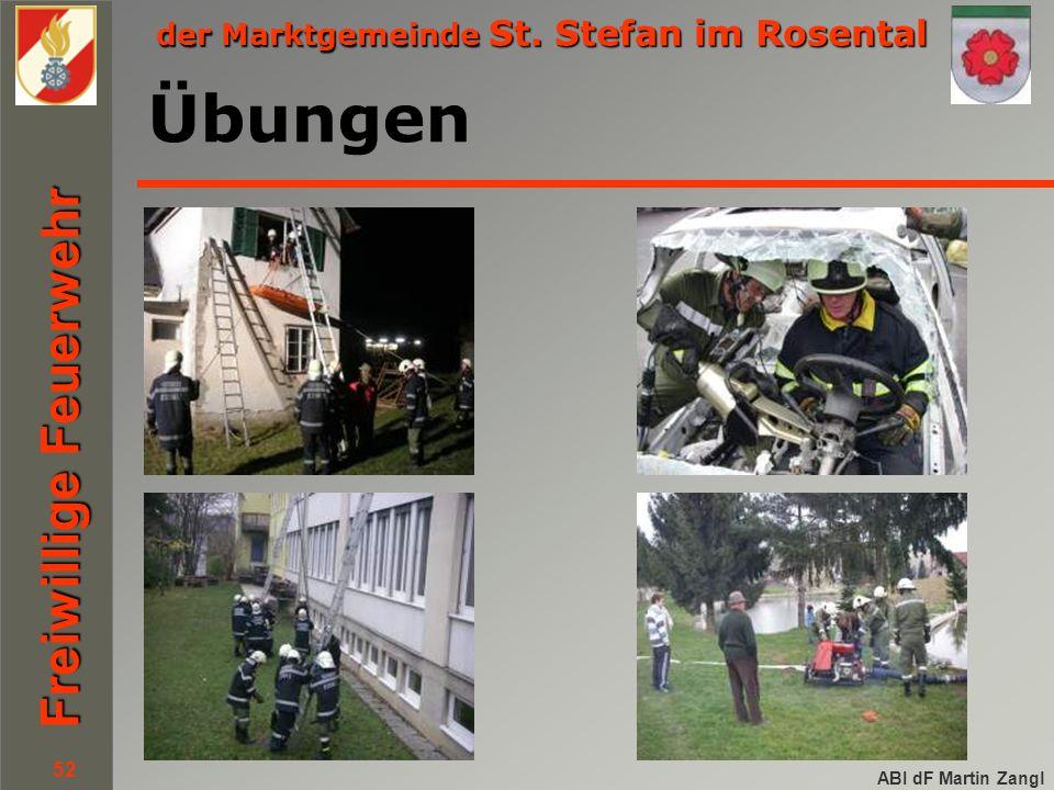 der Marktgemeinde St. Stefan im Rosental Freiwillige Feuerwehr ABI dF Martin Zangl 52 Übungen