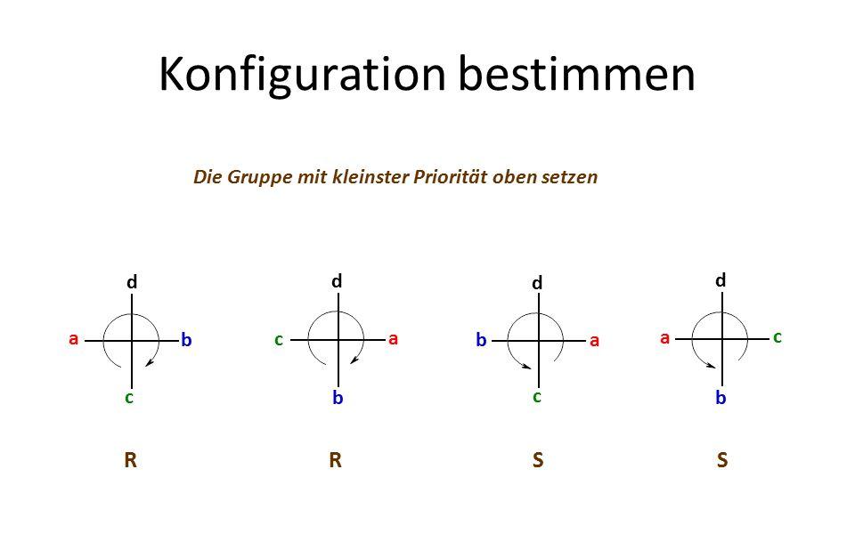 Konfiguration bestimmen Die Gruppe mit kleinster Priorität oben setzen a b c d c b a d d a b c d a b c RRSS