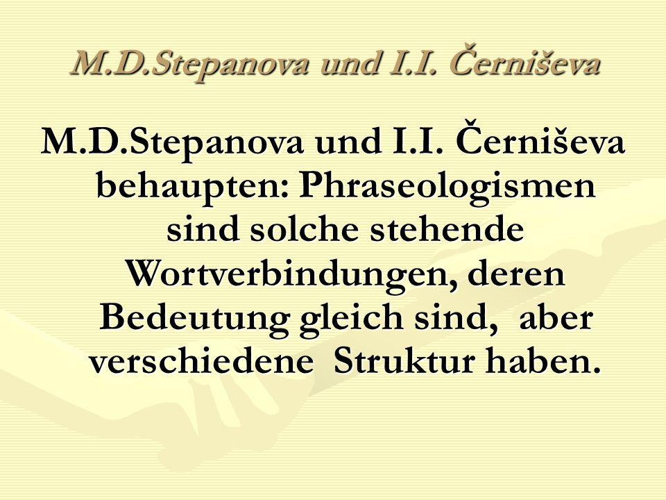 M.D.Stepanova und I.I. Černiševa M.D.Stepanova und I.I.