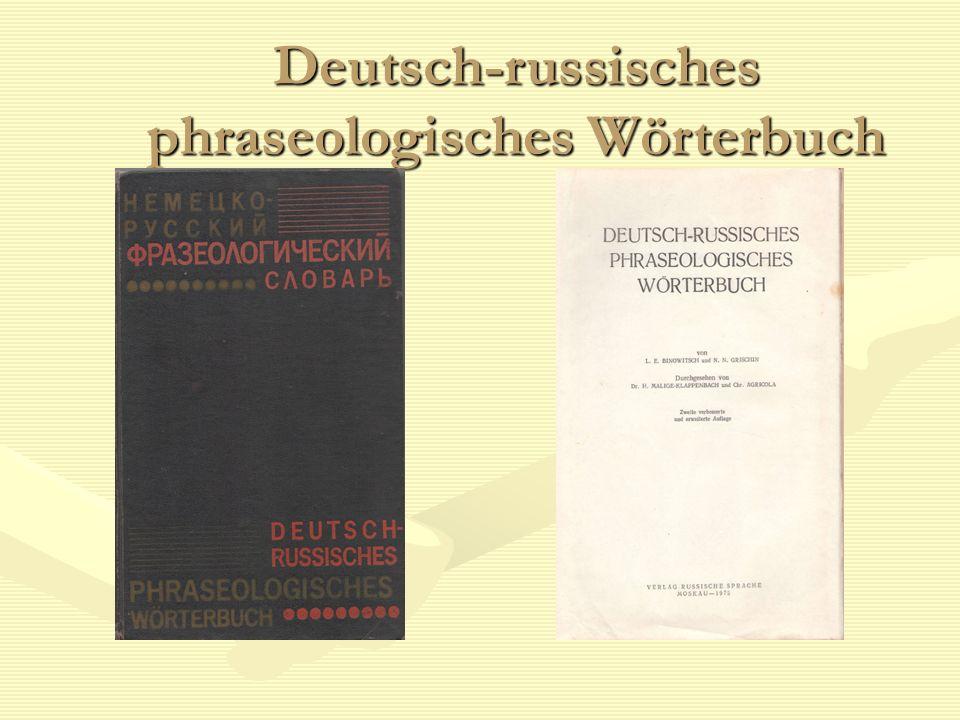 Deutsch-russisches phraseologisches Wörterbuch