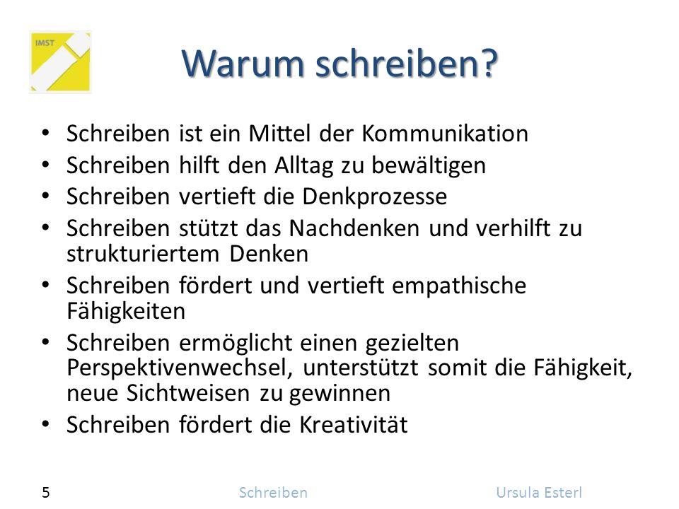 5SchreibenUrsula Esterl Warum schreiben.
