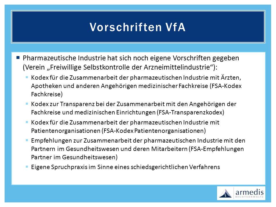 Vorschriften VfA