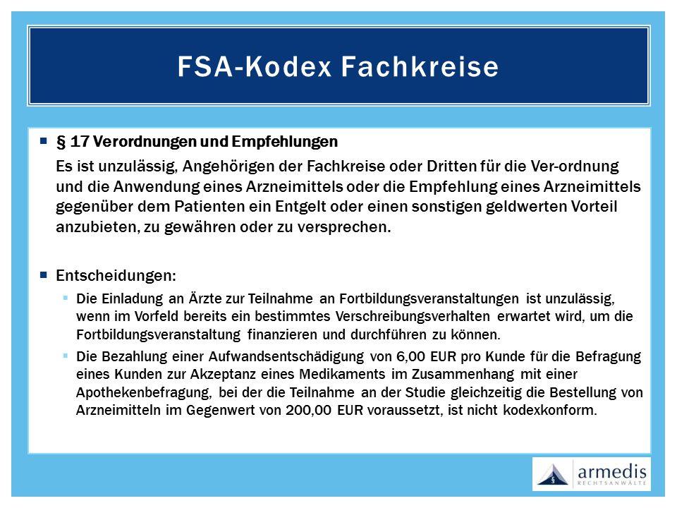 FSA-Kodex Fachkreise