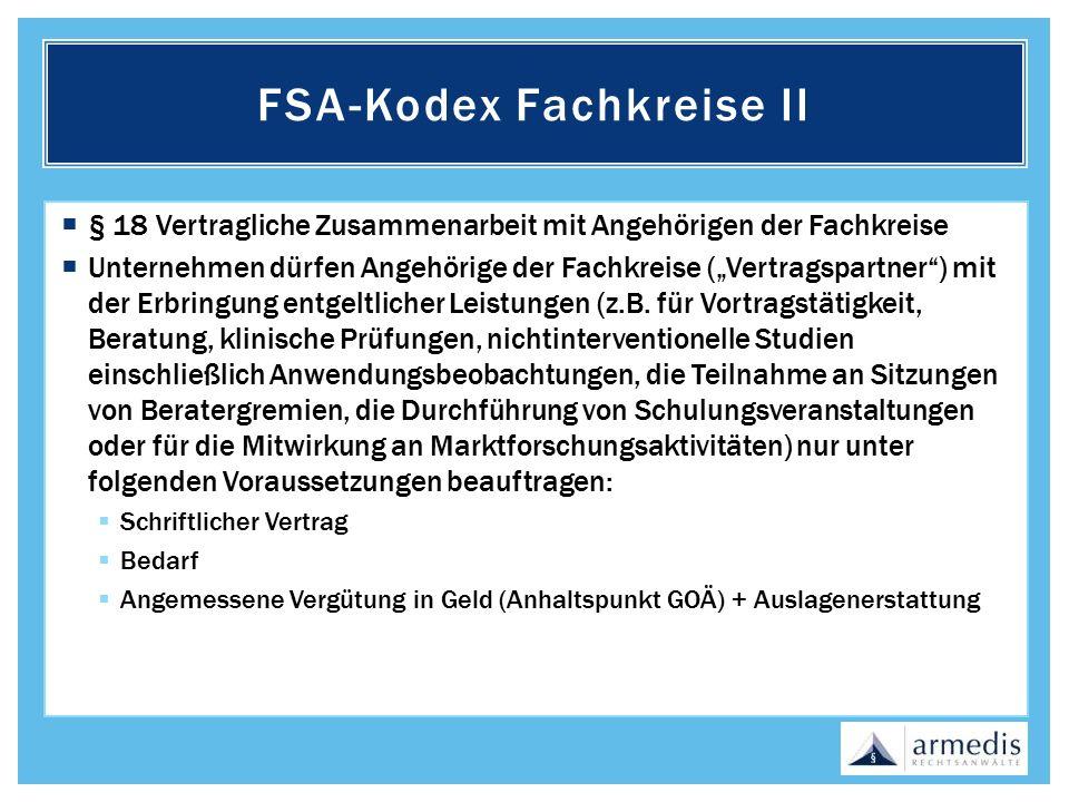 FSA-Kodex Fachkreise II