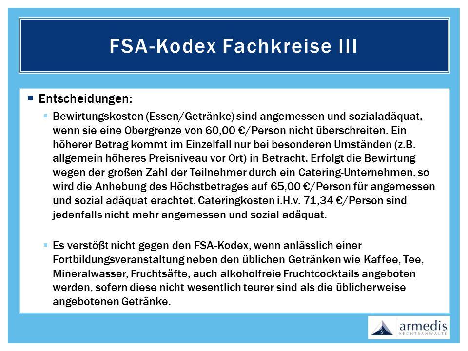FSA-Kodex Fachkreise III