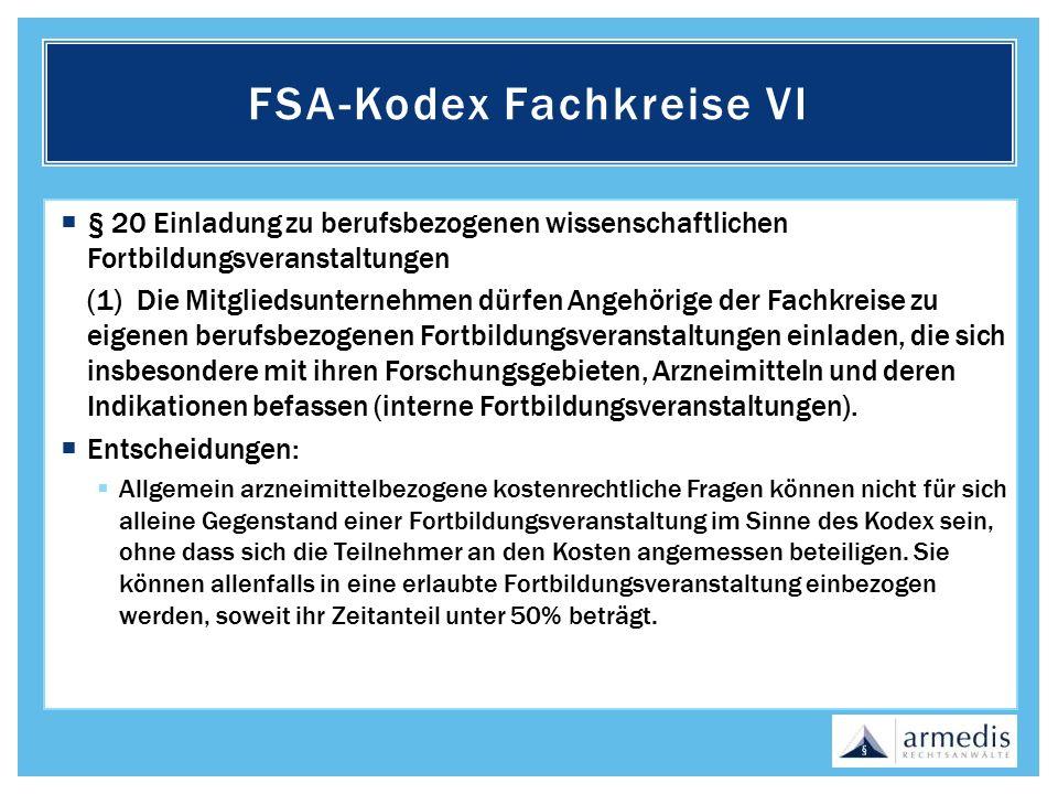 FSA-Kodex Fachkreise VI
