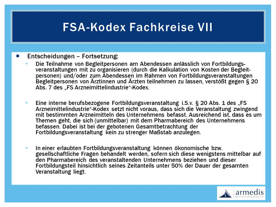 FSA-Kodex Fachkreise VII