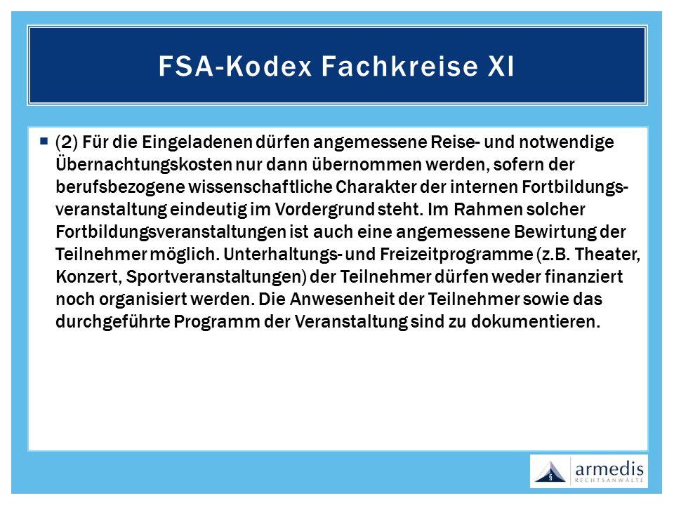 FSA-Kodex Fachkreise XI