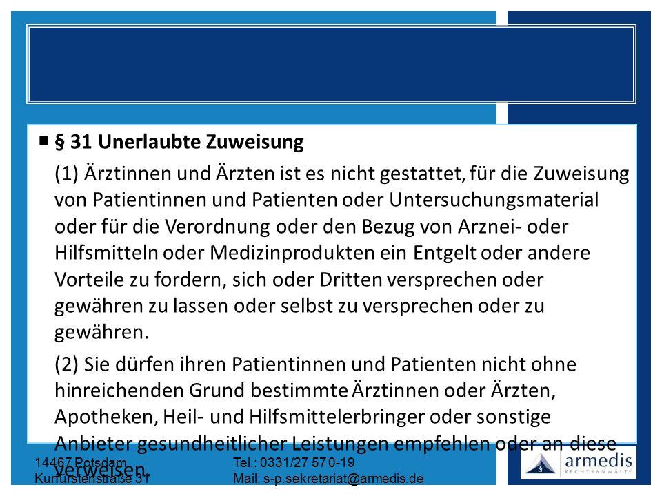 14467 PotsdamTel.: 0331/27 57 0-19 Kurfürstenstraße 31Mail: s-p.sekretariat@armedis.de