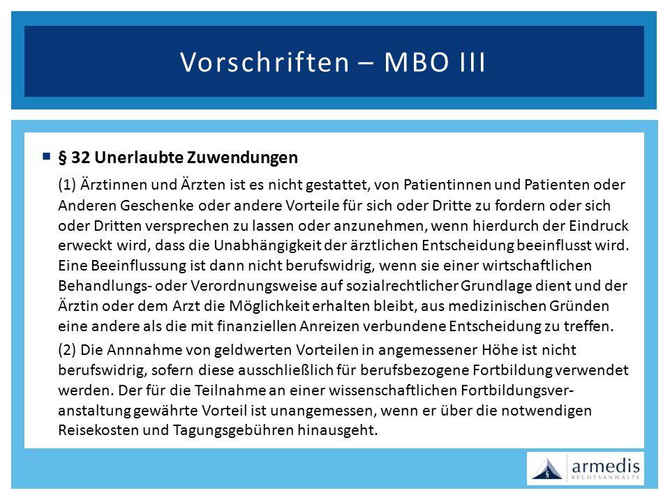 Vorschriften – MBO III