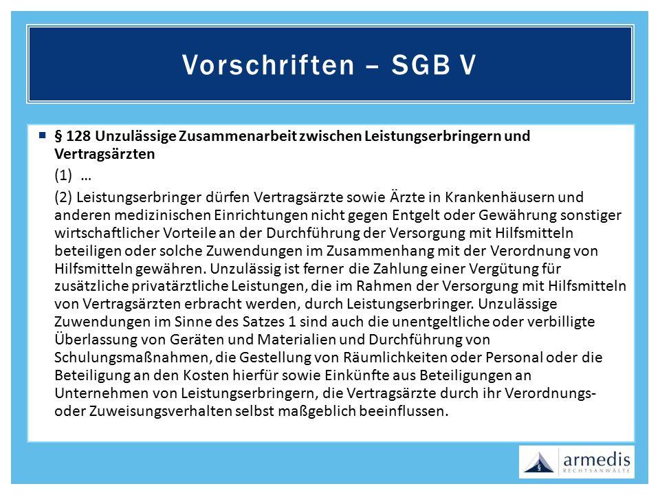 Vorschriften – SGB V