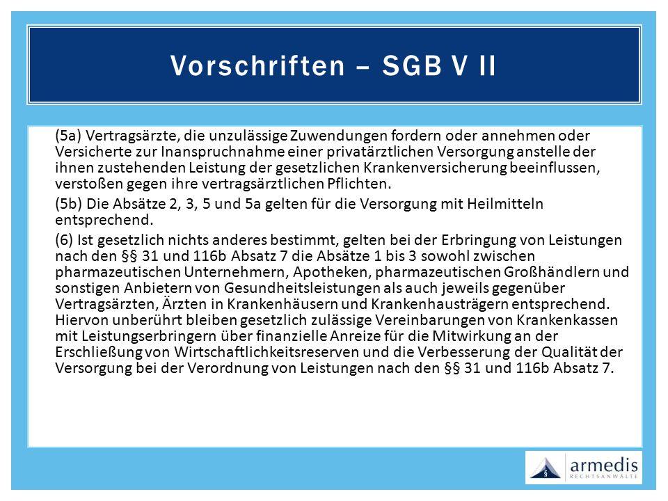 Vorschriften – SGB V II