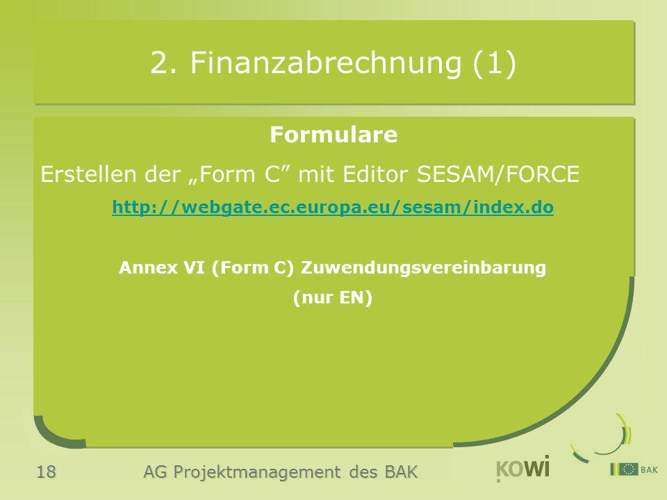 18 AG Projektmanagement des BAK 2.