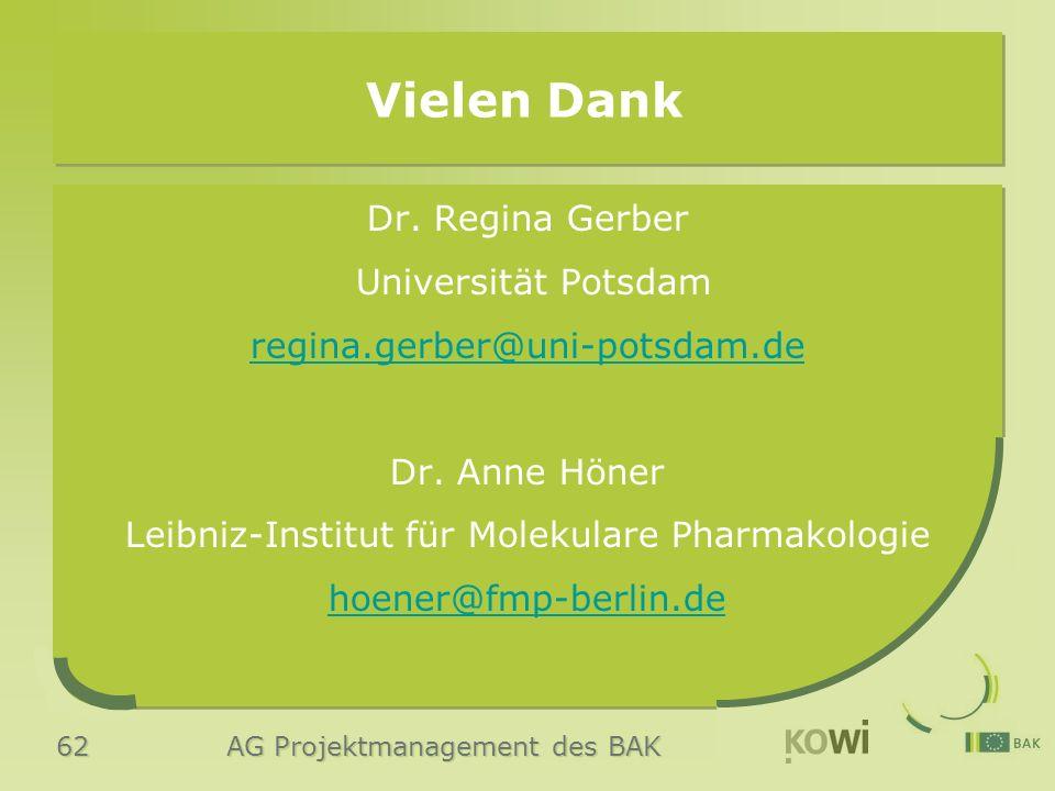 62 AG Projektmanagement des BAK Dr.