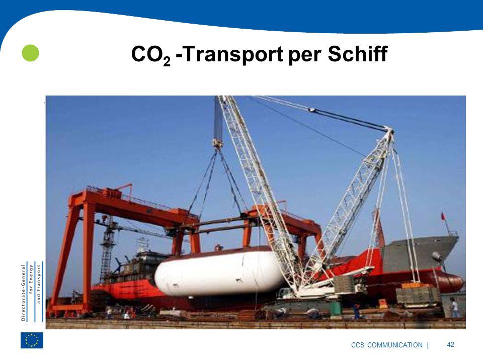 | 42 CCS COMMUNICATION CO 2 -Transport per Schiff