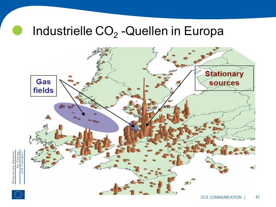 | 47 CCS COMMUNICATION Industrielle CO 2 -Quellen in Europa