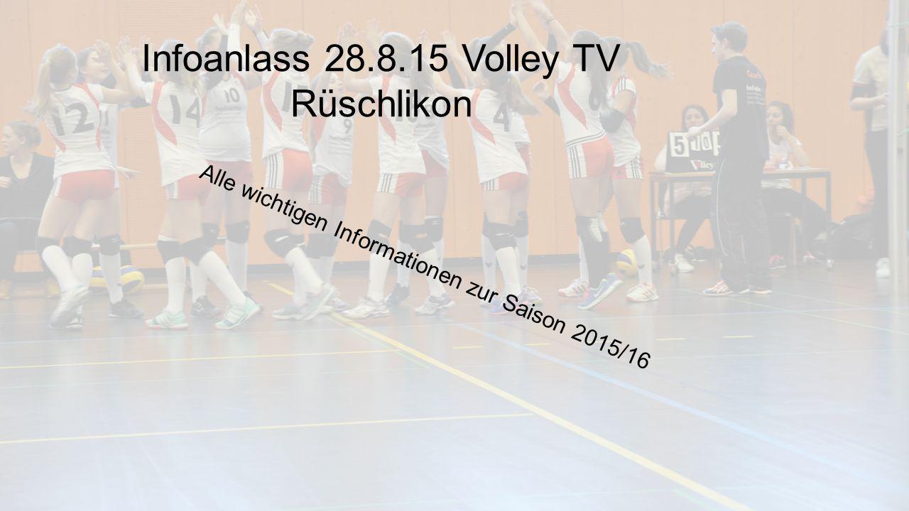 Infoanlass 28.8.15 Volley TV Rüschlikon Alle wichtigen Informationen zur Saison 2015/16