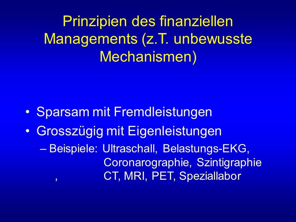 Prinzipien des finanziellen Managements (z.T.