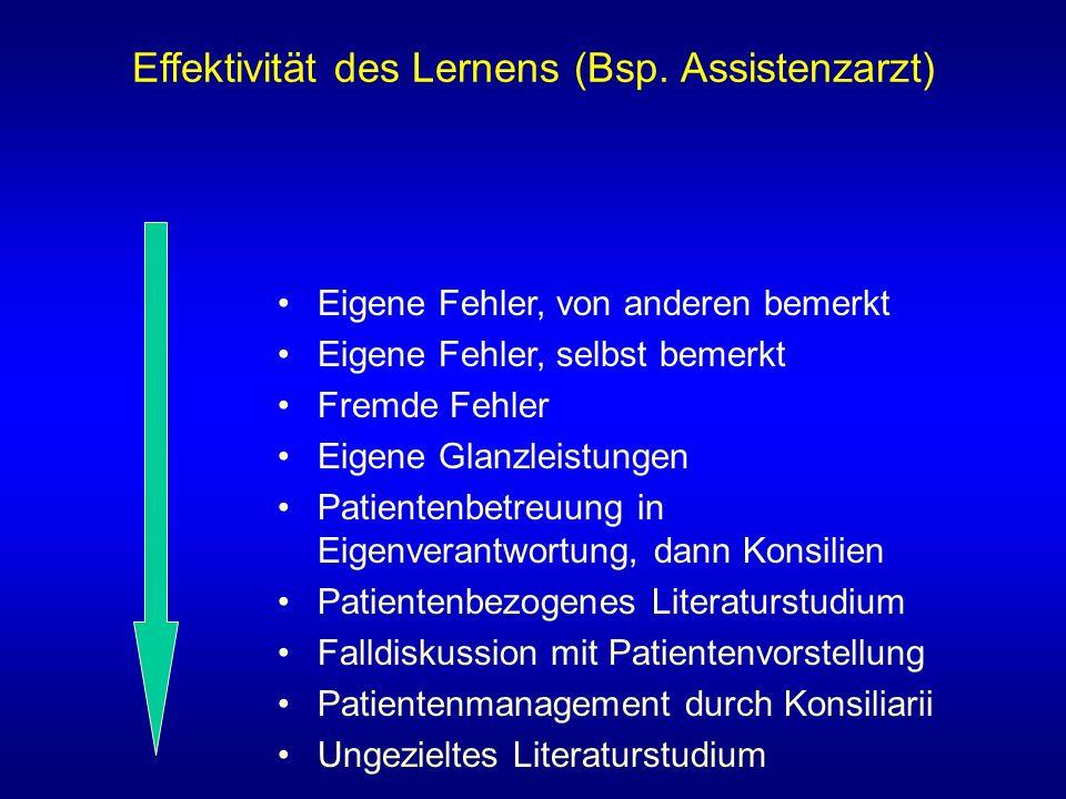 Effektivität des Lernens (Bsp.