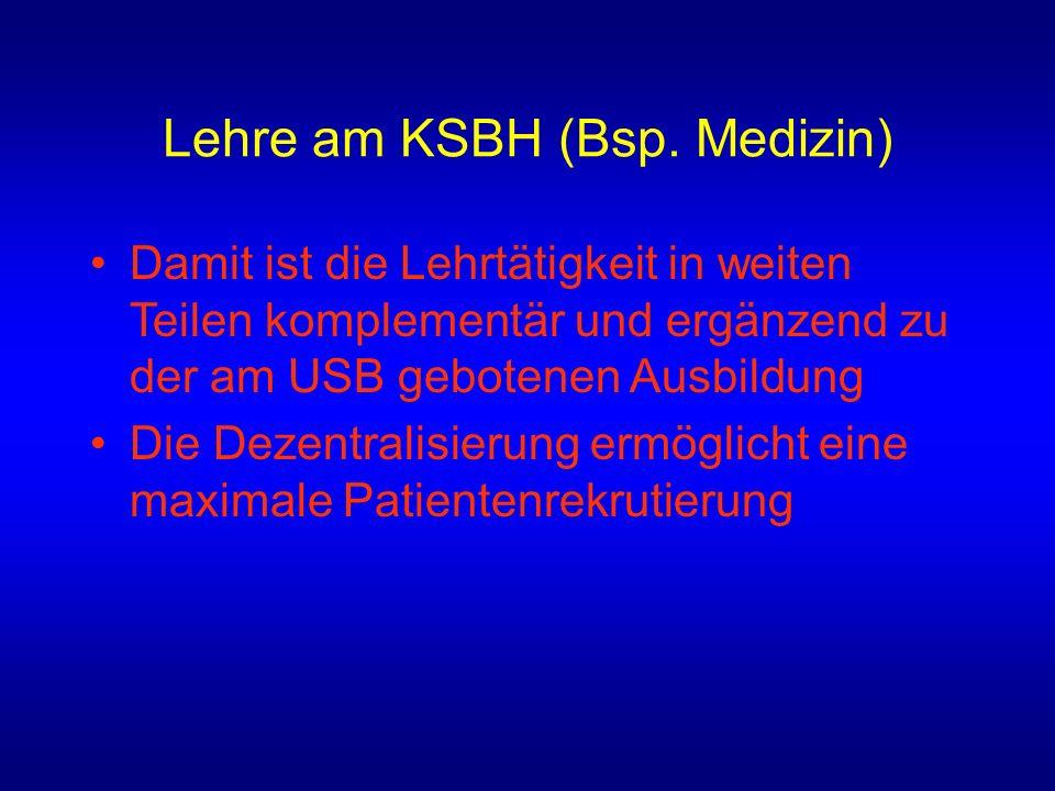 Lehre am KSBH (Bsp.