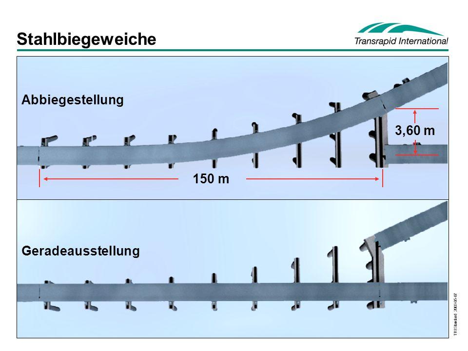 TRI Standard 2003-05-07 Stahlbiegeweiche Geradeausstellung Abbiegestellung 150 m 3,60 m
