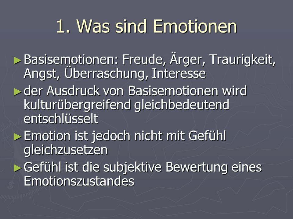 2.Emotionale Kompetenz ► ein Kind muss lernen, mit Gefühlen umzugehen, d.h.
