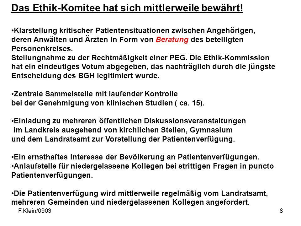 F.Klein/09038 Das Ethik-Komitee hat sich mittlerweile bewährt.