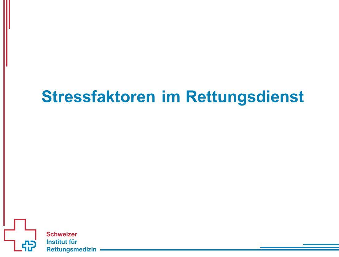 Stressfaktoren im Rettungsdienst