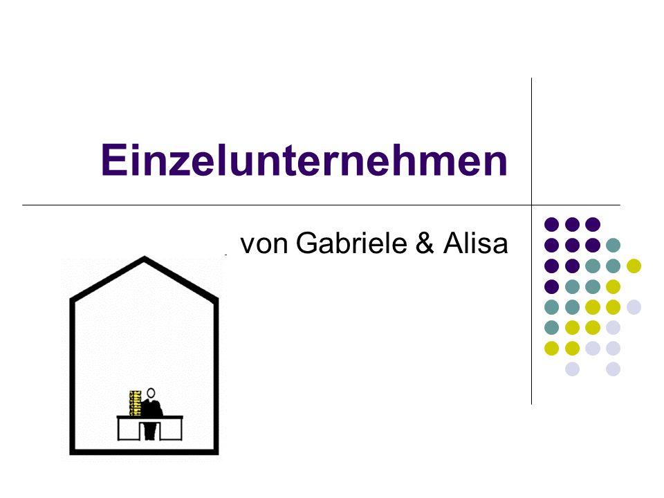 Einzelunternehmen von Gabriele & Alisa