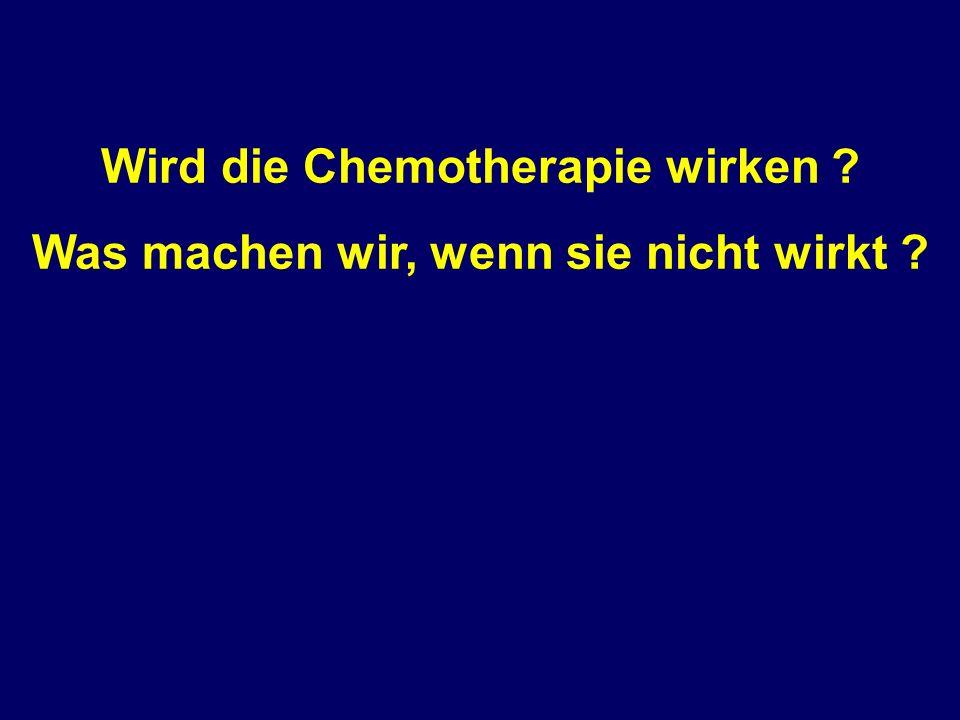 Wird die Chemotherapie wirken Was machen wir, wenn sie nicht wirkt