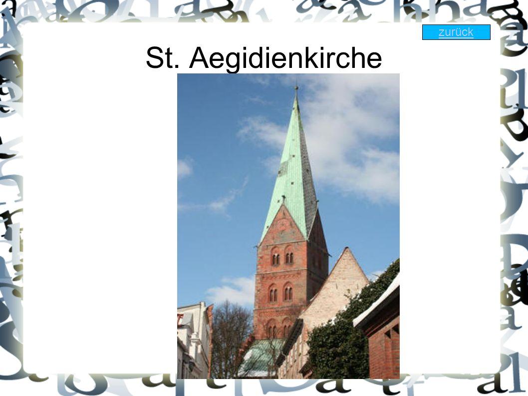 St. Aegidienkirche zurück