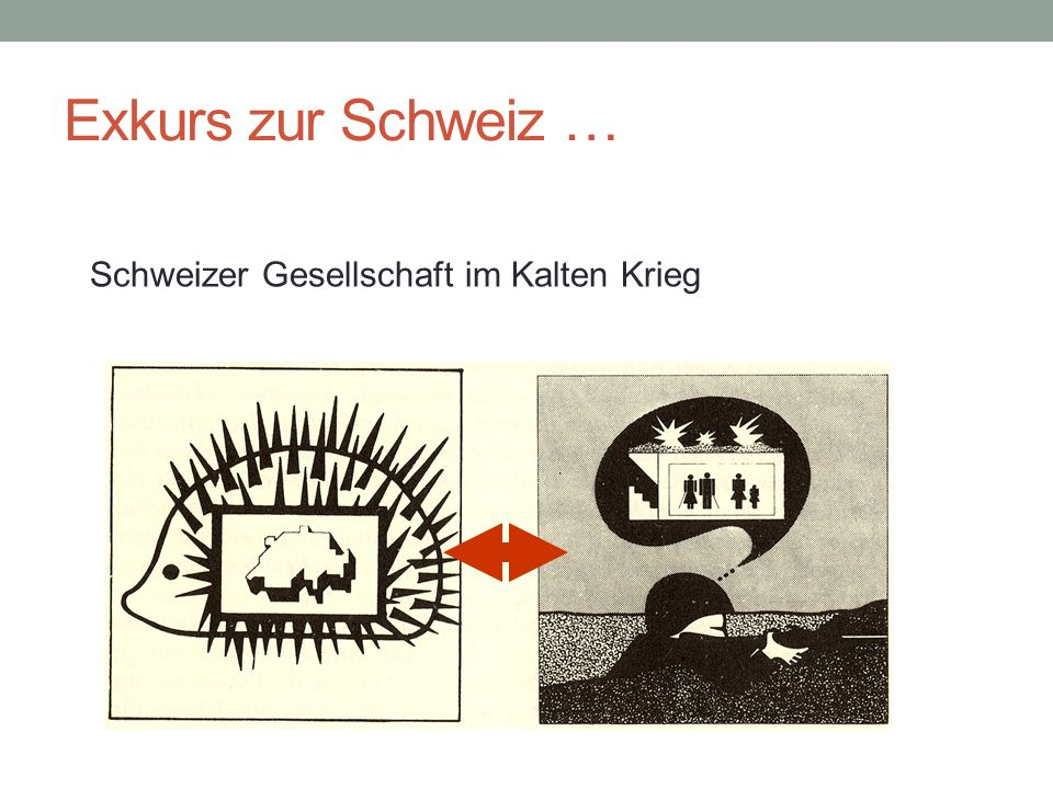 Exkurs zur Schweiz … Schweizer Gesellschaft im Kalten Krieg