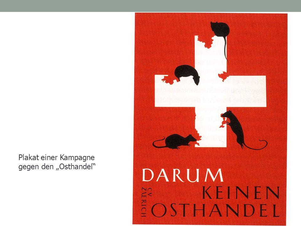 """Plakat einer Kampagne gegen den """"Osthandel"""""""