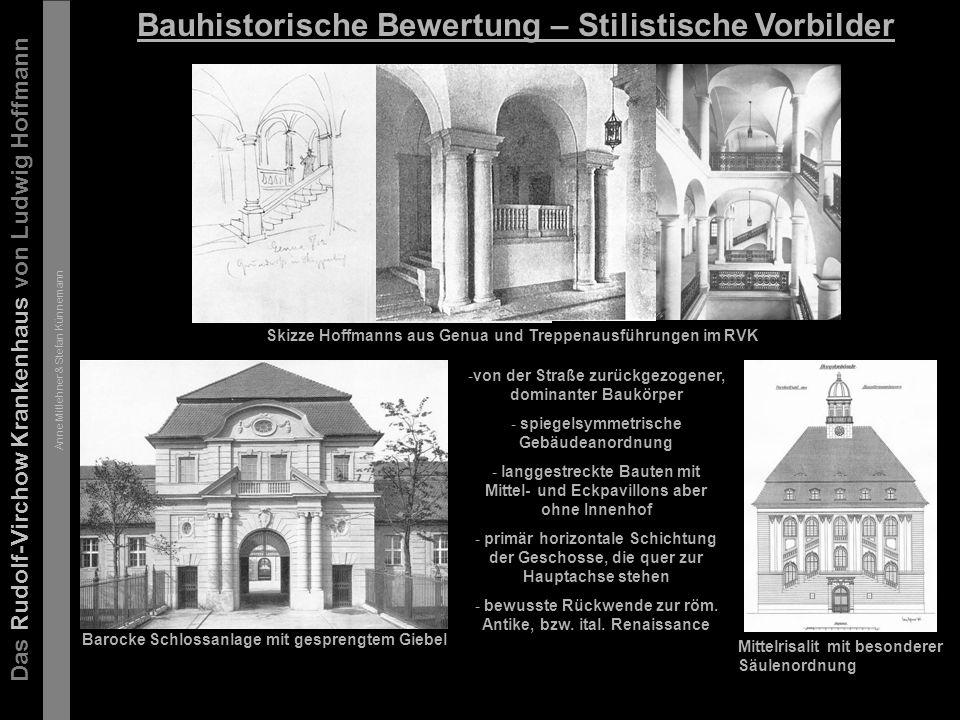 Das Rudolf-Virchow Krankenhaus von Ludwig Hoffmann Anne Mitlehner & Stefan Künnemann Bedeutung in der Architekturentwicklung Das Rudolf-Virchow Krankenhaus galt damals aufgrund seiner baulichen Organisation als das Beste seiner Zeit und hatte Vorbildfunktion für einige wenige Nachfolgebauten, wie z.B.