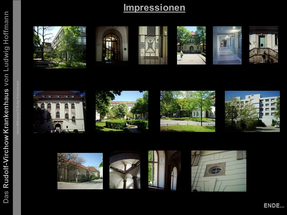 Das Rudolf-Virchow Krankenhaus von Ludwig Hoffmann Anne Mitlehner & Stefan Künnemann Impressionen ENDE...