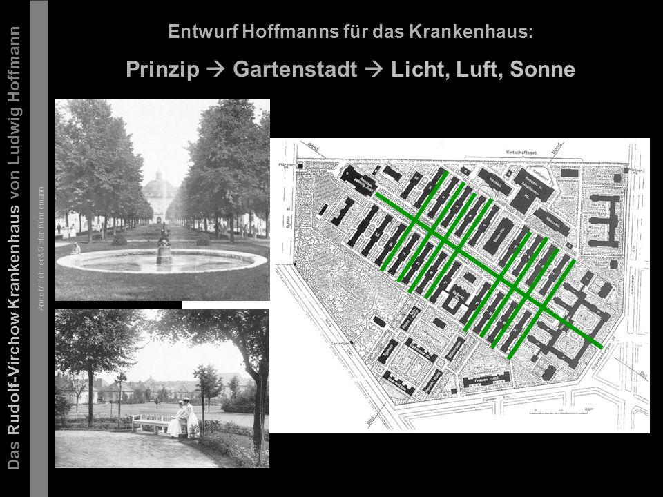 Das Rudolf-Virchow Krankenhaus von Ludwig Hoffmann Anne Mitlehner & Stefan Künnemann Gebäudeanordnung