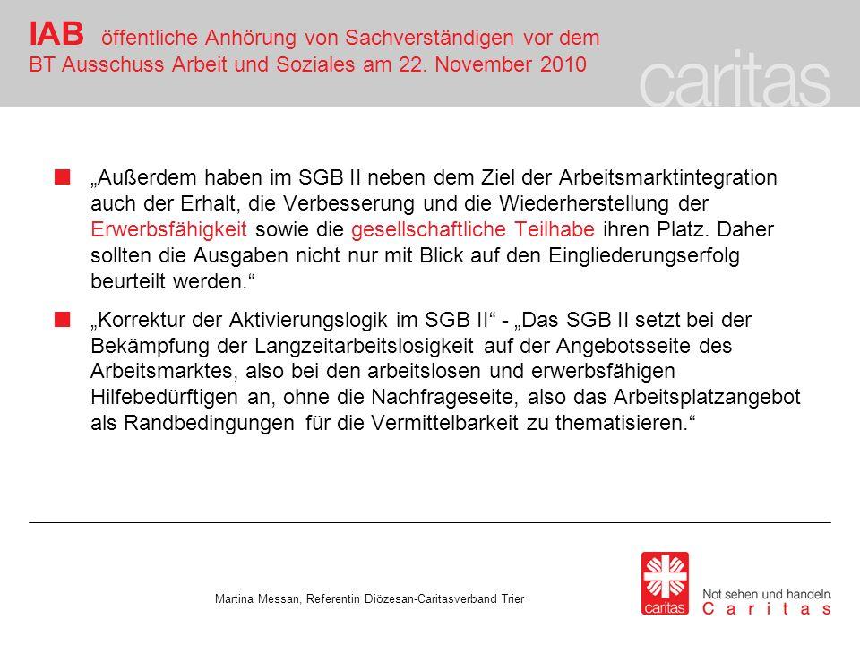 IAB öffentliche Anhörung von Sachverständigen vor dem BT Ausschuss Arbeit und Soziales am 22.