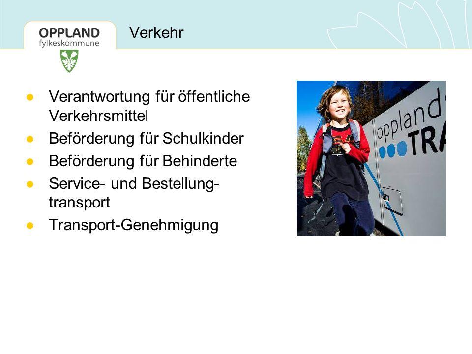 Verkehr ●Verantwortung für öffentliche Verkehrsmittel ●Beförderung für Schulkinder ●Beförderung für Behinderte ●Service- und Bestellung- transport ●Tr