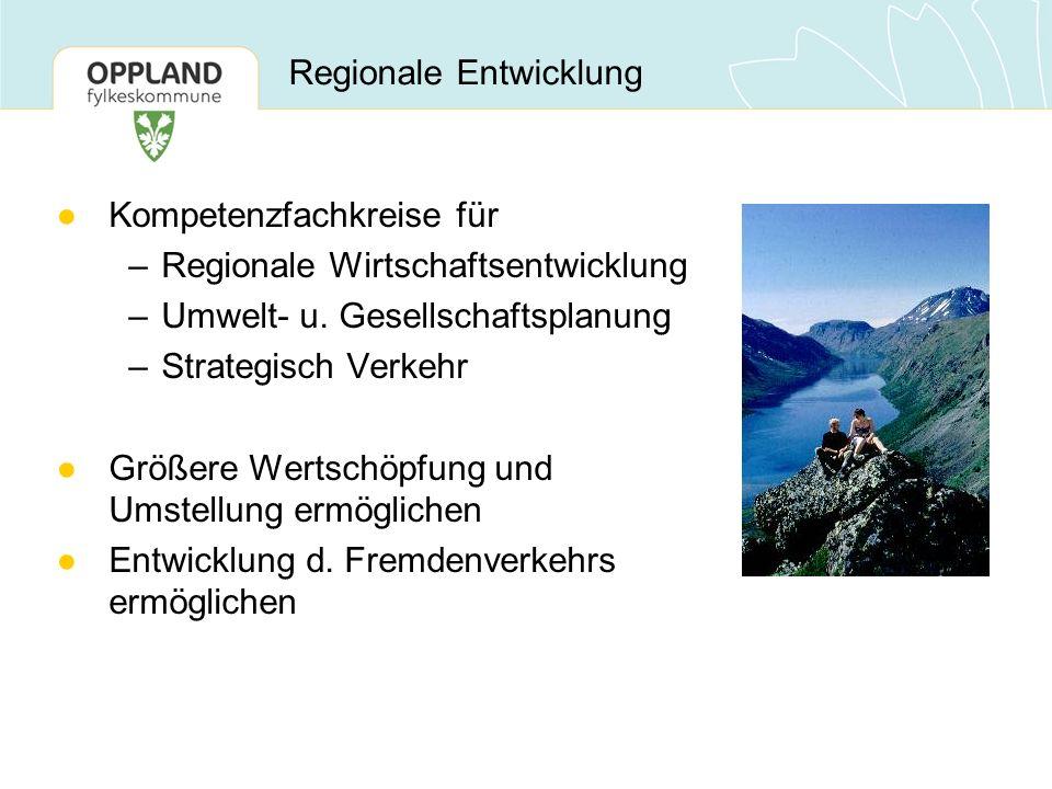 Regionale Entwicklung ●Kompetenzfachkreise für –Regionale Wirtschaftsentwicklung –Umwelt- u. Gesellschaftsplanung –Strategisch Verkehr ●Größere Wertsc