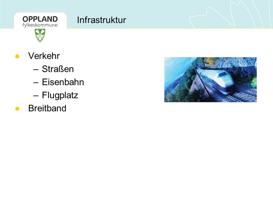 ●Verkehr –Straßen –Eisenbahn –Flugplatz ●Breitband Infrastruktur