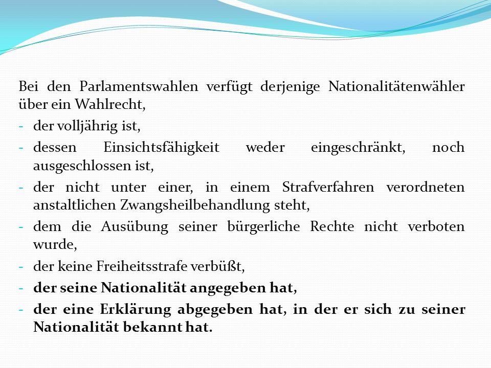 Die Berechnung auf Grundlage eines praktischen Beispiels: Wenn wir mit 100.000 Wählern rechnen, die um ihre Aufnahme ins Wählerverzeichnis bitten, dann beträgt die Quote 1990 Forint / Nationalitätenwähler.
