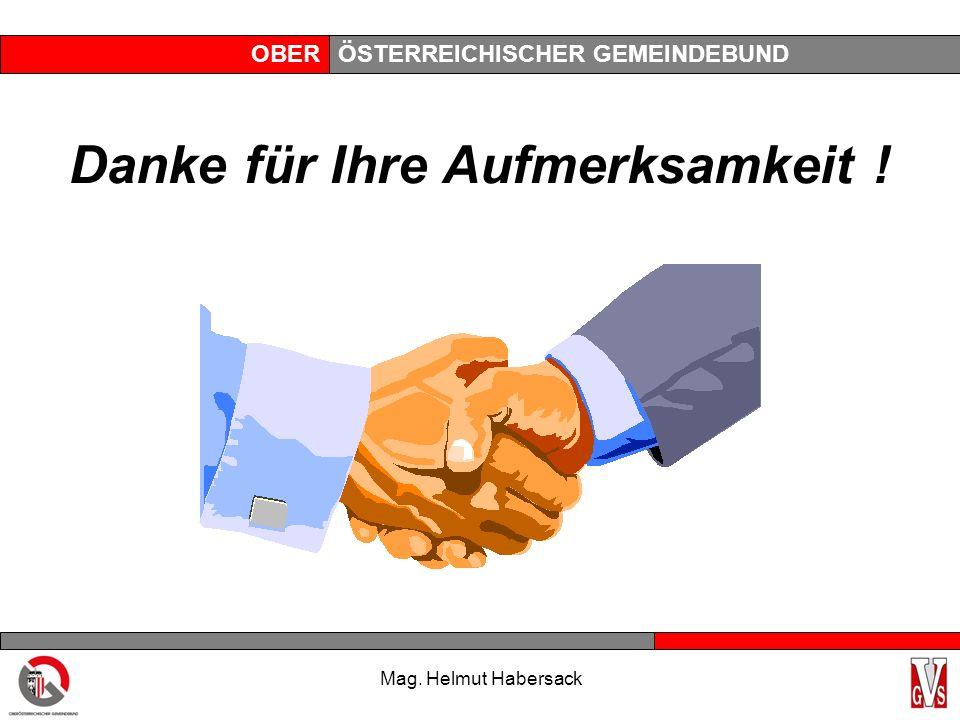 OBERÖSTERREICHISCHER GEMEINDEBUND Danke für Ihre Aufmerksamkeit ! Mag. Helmut Habersack
